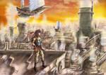 Steampunk City by Nekomancerz