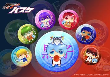 Kuroko no Basket Badge set by Nekomancerz