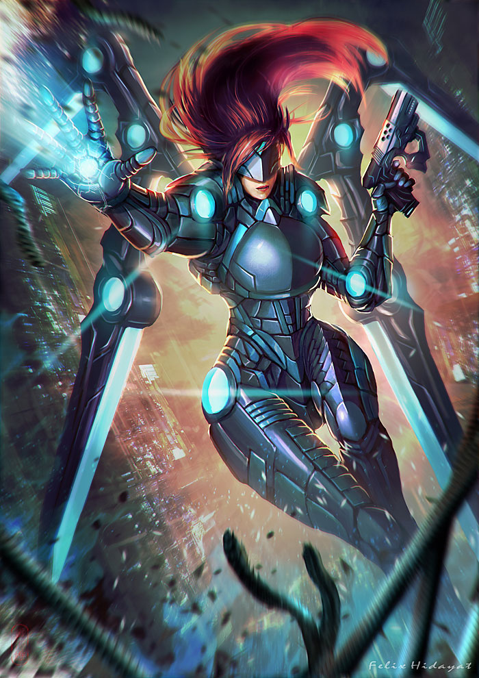 Cyborg Angel by Nekomancerz