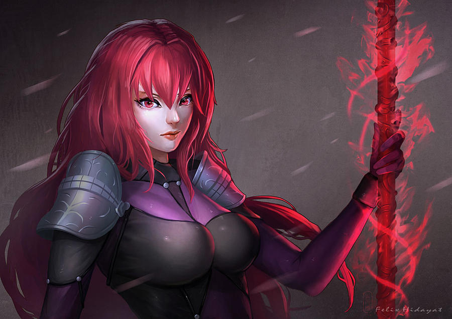 Scathach by Nekomancerz