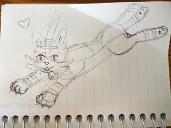 Torracat pen sketch by Kelsyjones