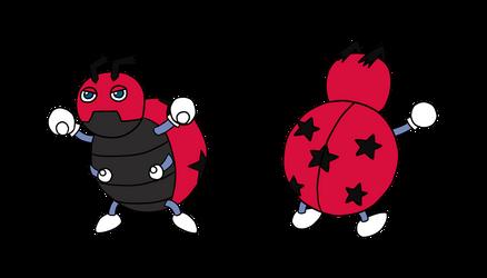 Pokemon - Fanmade Ledyba Evolution by Kelsyjones