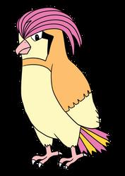 Pokemon - Pidgeotto by Kelsyjones