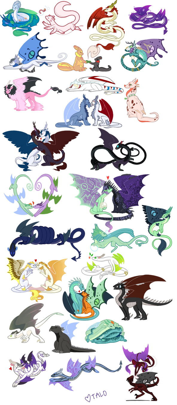 Oodles of dragons by taloheart