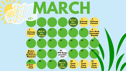 March Schedule by dragonmelde