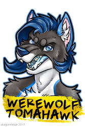 Werewolf Tomahawk Badge by dragonmelde
