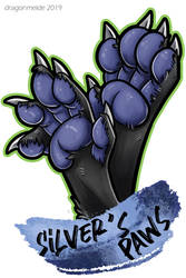 Silver's Paws Badge by dragonmelde