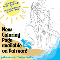 Tiffany and Hayleigh Coloring Page!