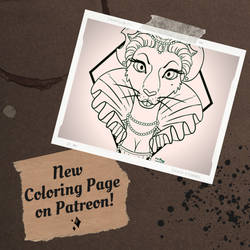 Rat Queen Coloring Page