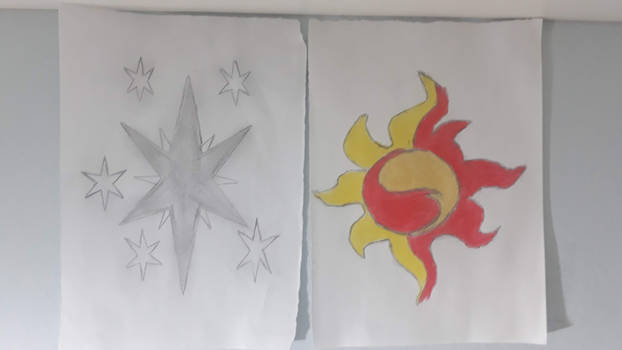 Twilight and Sunset Cutie Mark Drawing