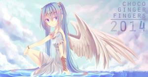 Goddess Miku by chocogingerfingers