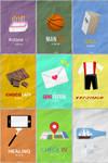Seventeen minimalist posters