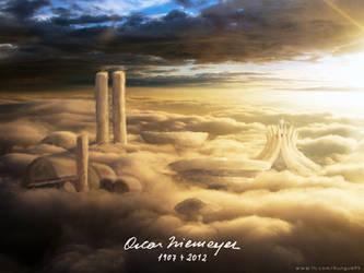Tribute to Oscar Niemeyer by Rungue