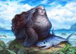 Coastal Huntress by JavierGonzalezart