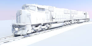 SD60M - Clay render by D4rB