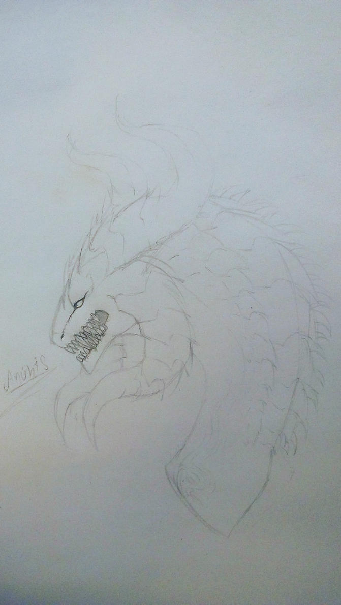 Anubis the demon dragon by Cappuccinno