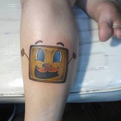 Tiny Box Tim Tattoo