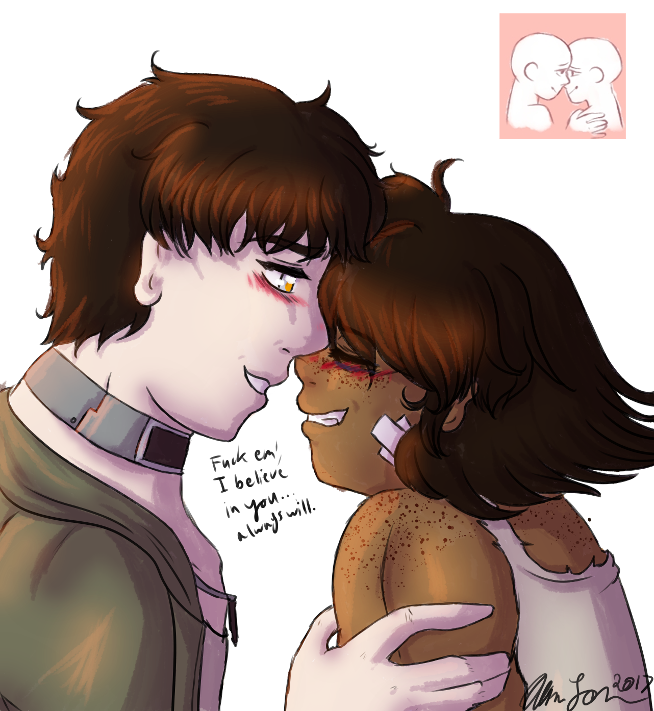 2A(Couples Meme): Connor Comforts Tez by artisticallystrange