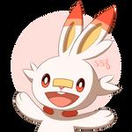 Happy fire-bunny