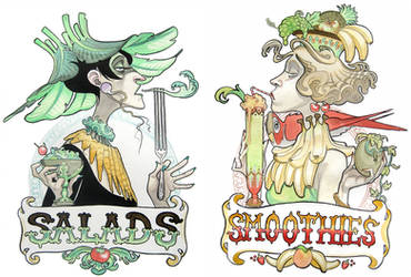 Salads + Smoothies by Adoradora