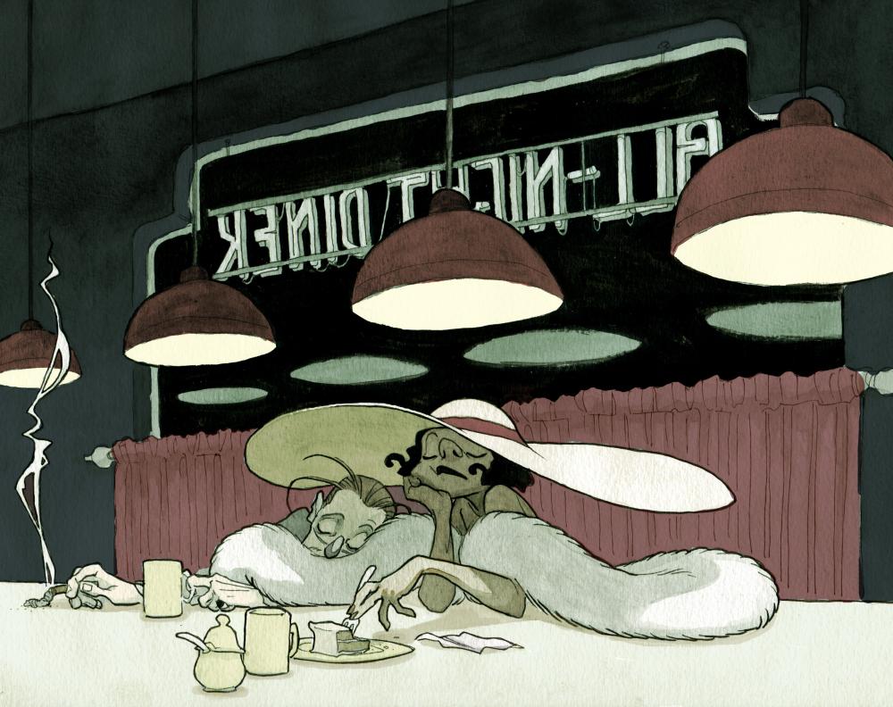 All-Night Diner by Adoradora