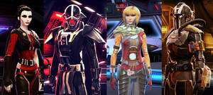 Star Wars The Old Republic Empire Roster by CrippleHawk