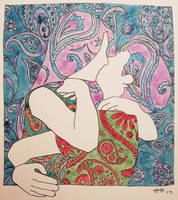 Paisley Kiss in four styles