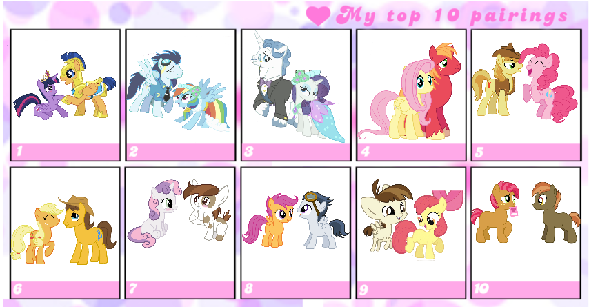 Updated Top 10 Mlp Shippings To Date By Tobyandmavisforever On Deviantart Scootaloo23s nda compliant public wows review. updated top 10 mlp shippings to date by