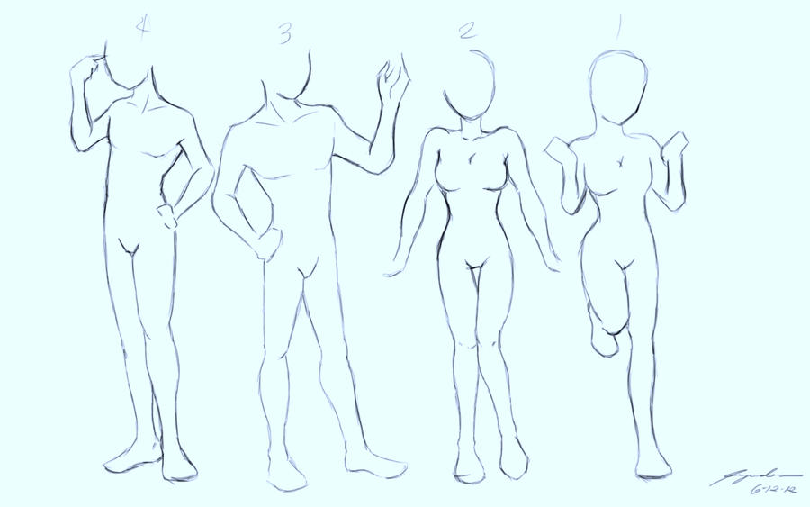 body proportions and poses practice sketch by mine22mine on deviantart