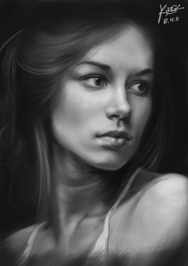 Female Portrait Study by KimiSz
