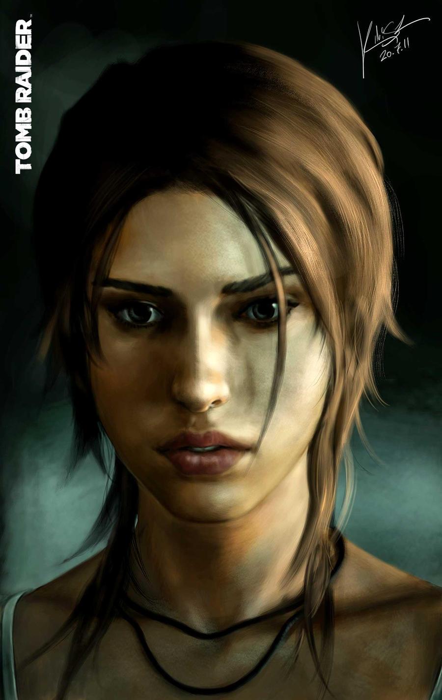 Portrait - Lara Croft by KimiSz