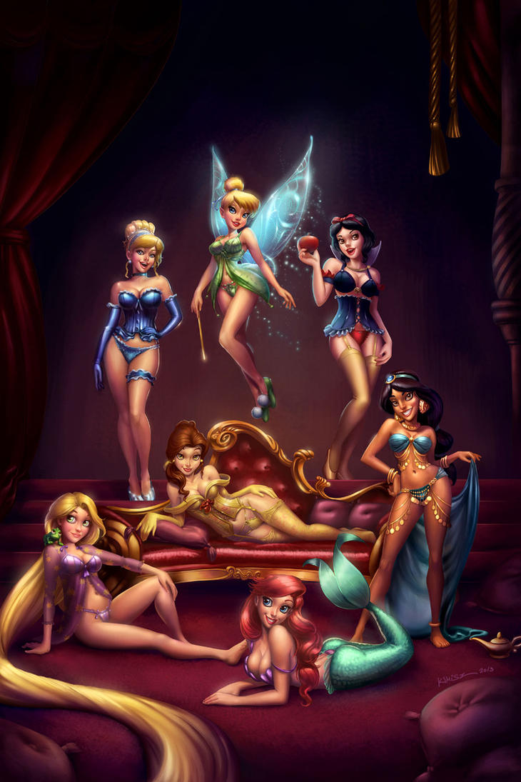 Disney Girls Pinup by KimiSz
