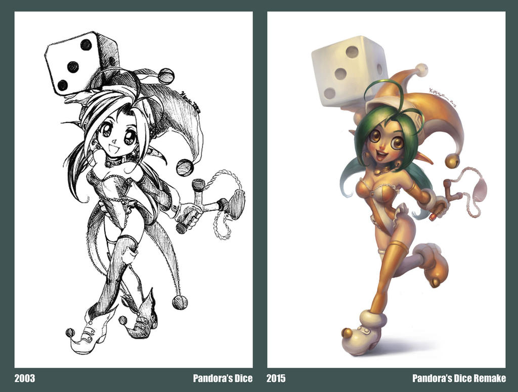 Pandora's Dice Comparison by KimiSz