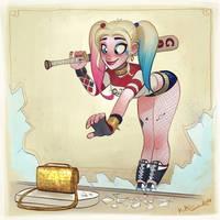 Harley Quinn Doodle by KimiSz