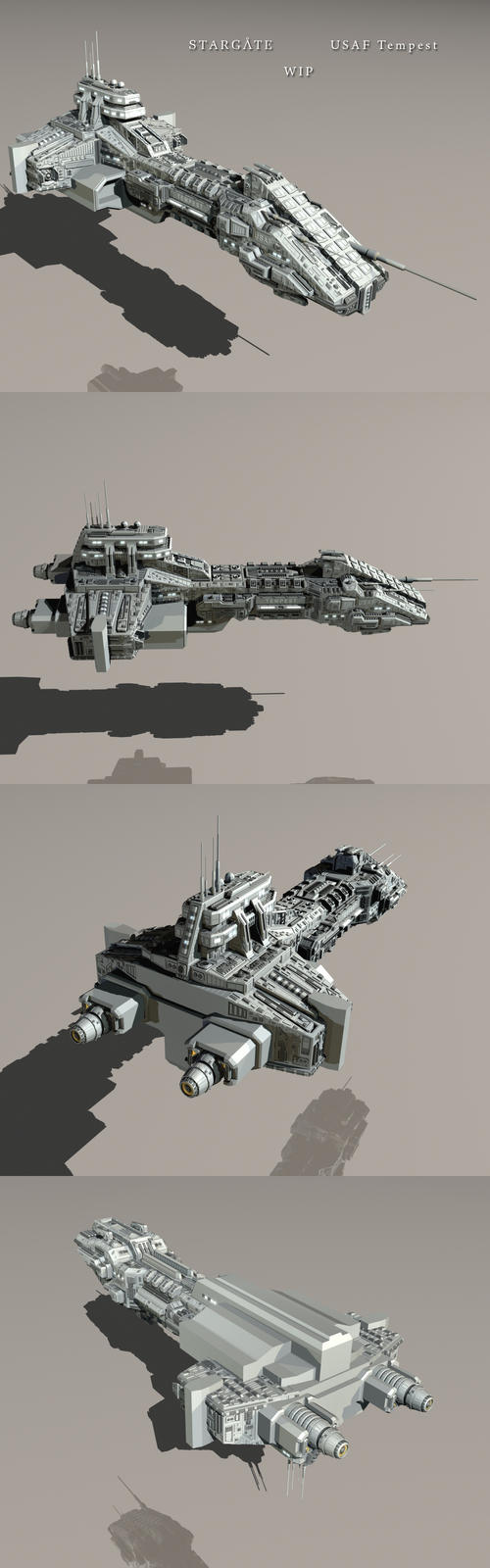 frégate terrienne StarGate_USAF_Tempest_WIP_7_by_Mallacore