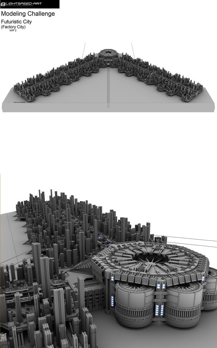 Futuristic City Challenge wip2 by Mallacore