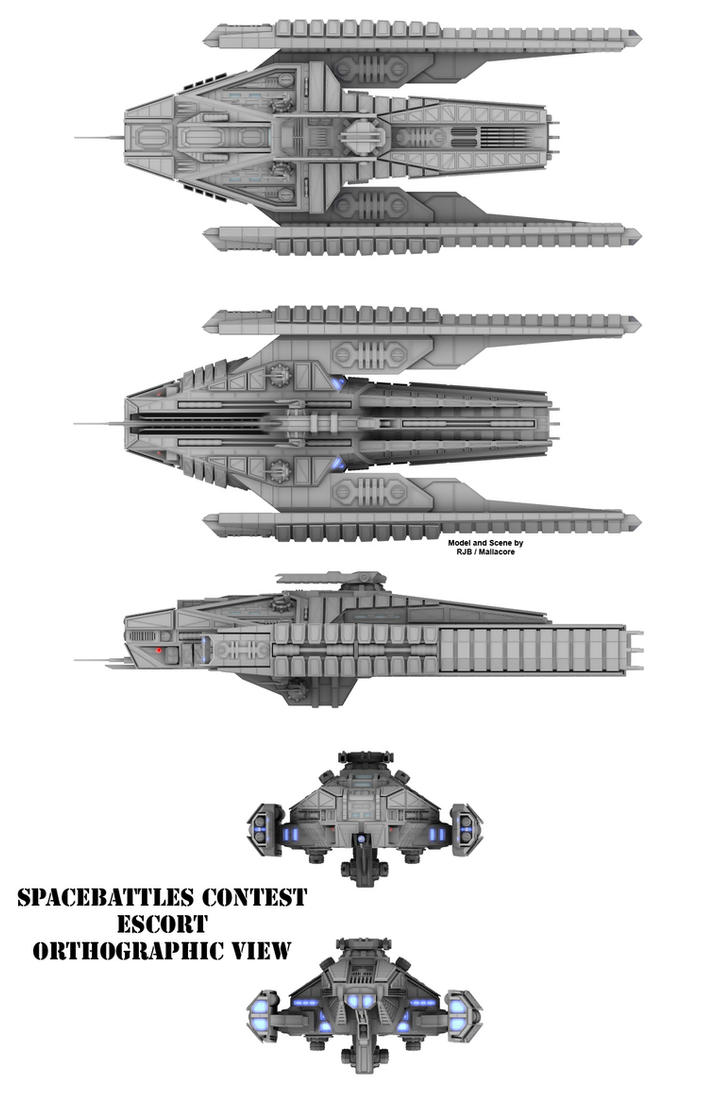 SBC Escort Orthographic View by Mallacore