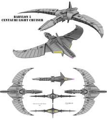 Babylon 5 - Centauri Light Cruiser by Mallacore