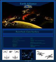 Earth Alliance - Razorback Class Starfury by Mallacore