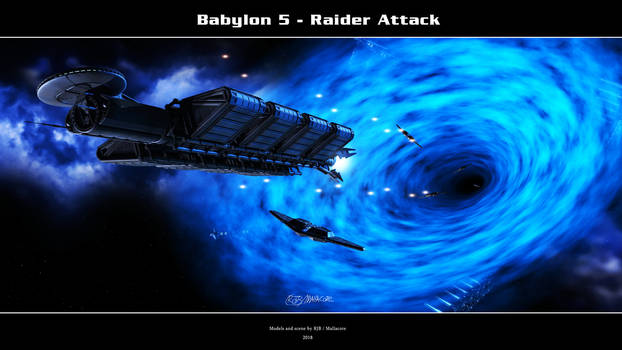 Babylon 5 - Raider Attack by Mallacore