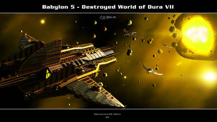 Babylon 5 - Destroyed World of Dura VII by Mallacore