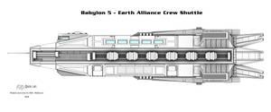 Babylon 5 - Crew Shuttle (Shaded line render)