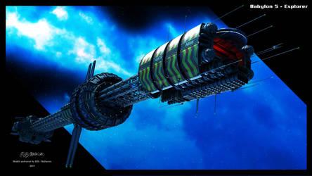 Babylon 5 - Explorer 2019 Pop Out by Mallacore