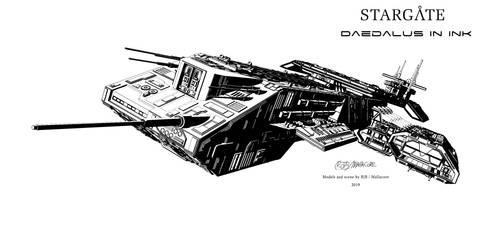 Daedalus in ink