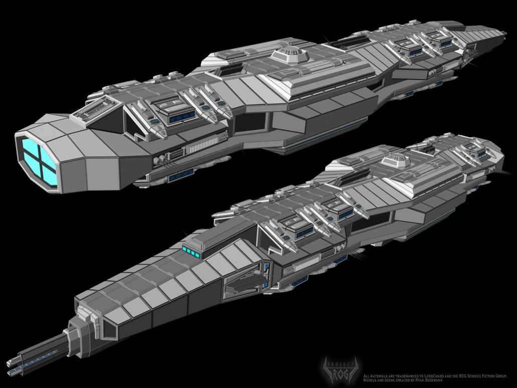 CGTalk - Sci-fi light cruiser