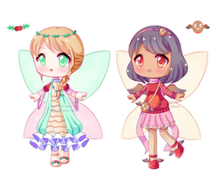 OPEN! 2/2 [Adopt Batch] December Fairy Adopts! by Kawaii-Says-Meow