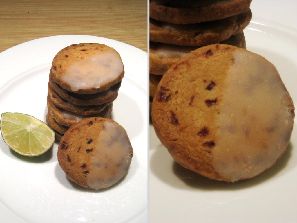 Lime Glazed Cranberry Shortbreads by flameshaft on DeviantArt