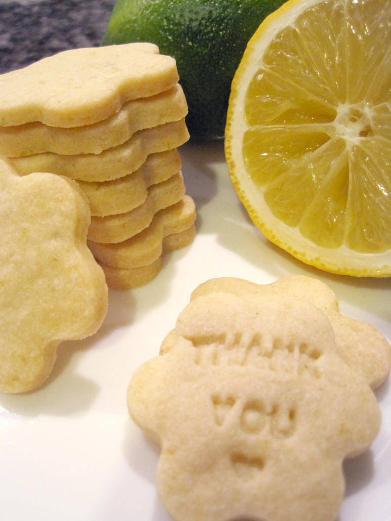 Lemon and Lime Shortbreads by flameshaft