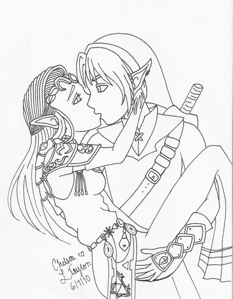 Zelda Thankx Link Outline by Kayaticka on DeviantArt