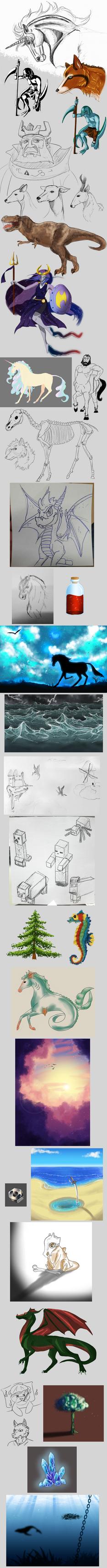 Daily drawing : October by Caronat